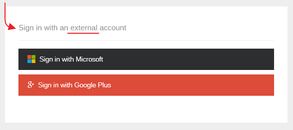 Use External login